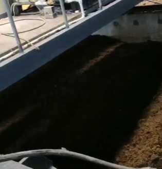 贵州六盘水,水城县年产15成发吨有机肥生产线发酵车间
